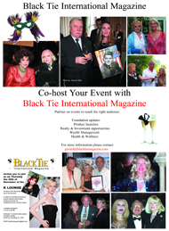 Black Tie International Magazine, Co-host events, Society, Celebrity, Enterprise, Philantropy, Gerard McKeon, Joyce Brooks