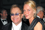 Sir Elton John, Uma Thurman, The Sixth Annual Elton John aids foundation  benefit
