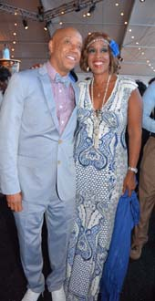 Russell Simmons and Gayle King.  Photo by:  Rose Billings/Blacktiemagazine.com