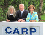 Event Chairmen Barbara Katz, Dr. William Adkins and , CARP, Palm Beach