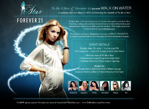 To Be A Star, Forever 21, Walk on Water Fashion Event