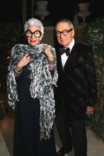 Palm Beach Fine Craft Show honorary chairs  Iris and Carl Apfel