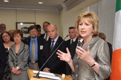 Ireland's Great Hunger, Opening night photo of President McAleese