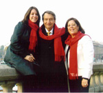 Amanda Lebow, Alan Lebow and Patricia Lebow in Paris, 2007