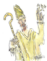 St Patrick by Art Hughes