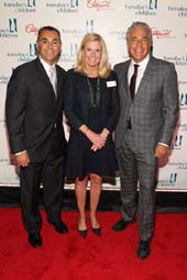 John Franco, NY Mets legend and Tuesday�s Children honoree, Terry Grace Sears, Tuesday's Children Executive Director, Eddie Gindi, Co-owner of Century 21 Department Store and Tuesday�s Children honoree