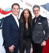 Steven Tyler with CEO of Youth Villages Patrick Lawler and Janie?s Fund