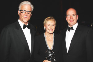 Ted Danson, Glenn Close and HSH Prince Albert.