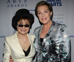 Yoko Ono, julie andrews, national arts awards