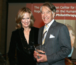 Board Member and Dinner Co-Chair Susan Burden and Honoree Roger Altman