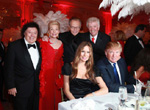 Marty Allen, Lois Pope, Larry King, Dick Robinson, Melania & Donald Trump