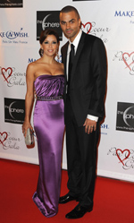 Tony Parker, Eva Longoria Parker, Par Coeur Gala benefitng the Make a Wish Foundation