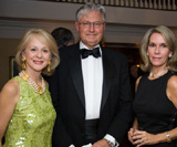 "Laura and Andy Prozes join Joyce Fowler (pictured left to right) at a ""Dimensions in Dining"" dinner. The Bruce Museum fundraising event featured a series of 11 intimate, elegant dinners in private"