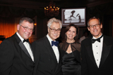 Scott Christensen, President and CEO, The Glaucoma Foundation; honoree and renowned photographer Elliott Erwitt;  Dinner Chair Debora K. Grobman, Esq.; Chairman of the Board of The Glaucoma Foundation