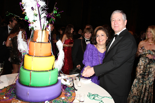 HRH Crown Princess Catherine of Serbia and HRH Crown Prince Alexander of Serbia cut the cake