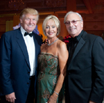 Donald Trump, Gala Chairs Geri and Frank Morrow