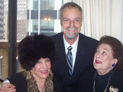 Jeanette Jaffe- Longoria, Dr. Bill Andrews and Lucy Jarvis