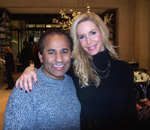 Pauline Youngblood-Soli, Creator & Founder of Youngblood Mineral Cosmetics and  Andres Aquino