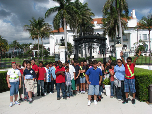 Palmetto Elementary School students at the Flagler Museum