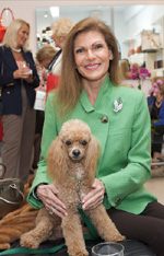 Gail Worth and her poodle Coco