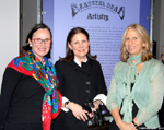 Leticia Bennet, Susan Danilow and New-York Historical Society President & CEO, Louise Mirrer