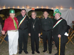 David White, Msgr. Bosso, Bishop Felipe Estevez, Archdiocese of Miami,