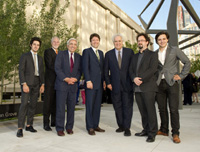 Alexander Benenson; Ron Austin, Executive Director of the Lincoln Center Development Project, Inc.; Reynold Levy, President of Lincoln Center for the Performing Arts; Lawrence Benenson; Frederick Benenson; Ben Gilmartin, RA, Associate at Diller Scofidio + Renfro; Fred Benenson