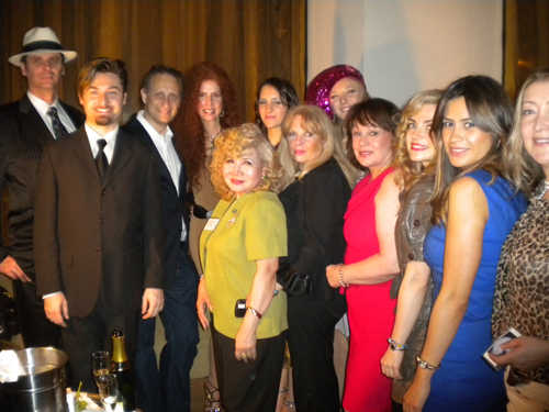Our Guest in the picture Eugene Torand, Italian Film Director Dr. Alessandro Mini, Dr. Robert Korwin, Susan Korwin, singer Lara Janine & Dani Tersini, Center,Event Producer Gloria T. Cressler, Diane King of Got Entertainment LLC,Andrea Spring Managing Director Blue Star Jets, Polina Roze of Marriott Hotels,Paula Lopez Marketing Manager Tantra Lounge.