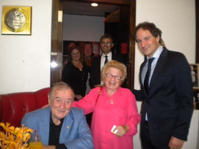 Sirio Maccioni, Dr. Ruth Westheimer and David Hryck