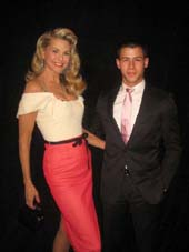 05-12 Honorees Christie Brinkley and Nick Jonas at the Inside Broadway's 2012 Broadway Beacon Awards. at the Hudson Theatre. 145 West 44th St. Monday night 06-04-12