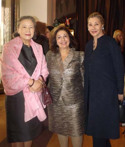 Mrs. Ban Soon-taek, Crown Princess Katherine of Serbia and  Susan Gutfreund.  Photos by:  Joyce Brooks
