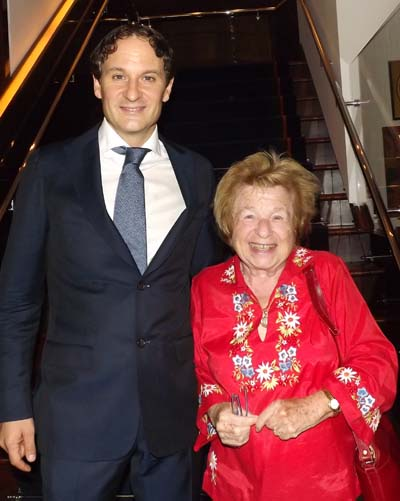 David Hryck and Dr. Ruth Westheimer