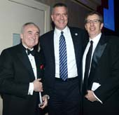 William J. Bratton, Mayor Bill de Blasio and Bill Rudin.  Photo y:  BFA