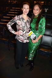 Veanne Cox and Lucia Hwong Gordon.  Photo by:  Rose Billings/Blacktiemagazine.com