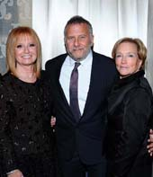 Gala Chair Sally Magaram, Emcee Paul Reiser and Gala Chair Harriet Nichols.  Photo by:  Vince Bucci