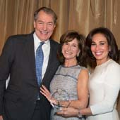 Charlie Rose, Rikki Klieman, Hon. Jeanine Pirro, Luncheon Chair.  Photo by:  Ben Asen Photography