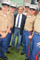 Geraldo Riv​era, Fox News with​ Navy Officers.  Photo by:  Rose Billings/Blacktiemagazine.com