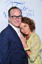 Clark Gregg and Jennifer Grey.  Photo by:  Vince Bucci
