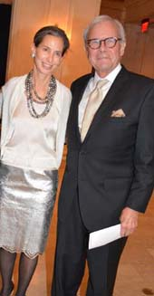 Alice Tisch (Co-Host) and Tom Brokaw.  Photo by:  Rose Billings/Blacktiemagazine.com
