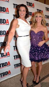 Countess LuAnn De Lesseps and Debbie Gibson.  Photo by:  Rose Billings/Blacktiemagazine.com