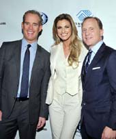 Emcees Joe Buck and Erin Andrews with Eric Shanks, President, COO .  Photo by:  Vince Bucci