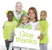 Marlo Thomas and St. Jude kids Give Thanks. Photo Courtesy of St. Jude