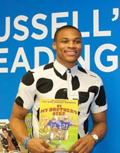 Oklahoma City Thunder point guard and NBA style star, Russell Westbrook