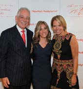Dr. Steven J. Corwin, CEO of NewYork-Presbyterian Hospital; Dr. Felice Schnoll-Sussman, Director of the Jay Monahan Center, Katie Couric