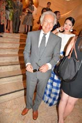 Ralph Lauren and Chiu-Ti Jansen.  Photo by:  Rose Billings/Blacktiemagazine.com