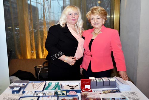 Galina Saucedo & Tatiana Lebedeva on the sponsorship table