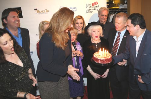 BIRTHDAY CELEBRAT Architect Irena Skoda, Comtesse Suzanne De Paris & Dr. Tom MallosCristina Fontanelli leading the singing of Happy Birthday, Irena Skoda & Comtesse Suzanne De Paris with their birthday cake, Tomaczek Bednarek, Bill Lanndis,