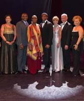 Gala Co-Chairs and Honorees with Robert Battle, Judith Jamison, and Chadwick Boseman.