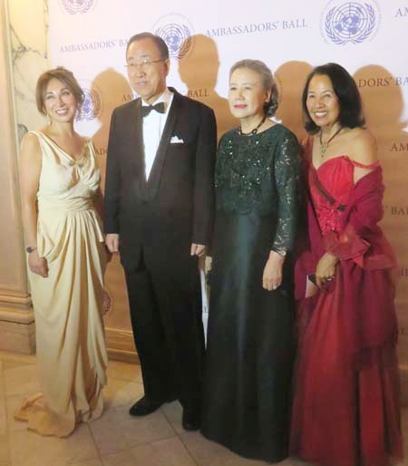 Nassrin Iromloo Zahedi, United Nations Secretary-General Ban Ki-moon, Mrs. Ban Soon-taek, luz macarthur