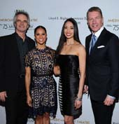 ABT Artistic Director Kevin McKenzie, ABT Principal Dancers Misty Copeland and Stella Abrera and Co-Chair Michael Moser, Harry Winston VP Regional West Coast Retail.  Photo by:  Vince Bucci